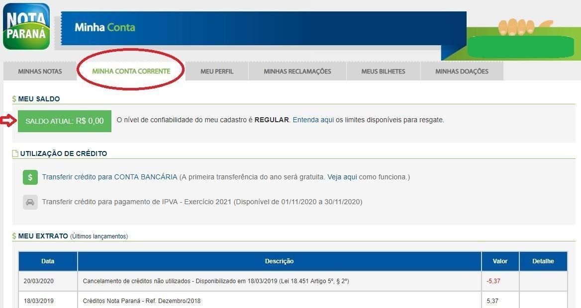 Como Consultar Saldo Nota Paraná