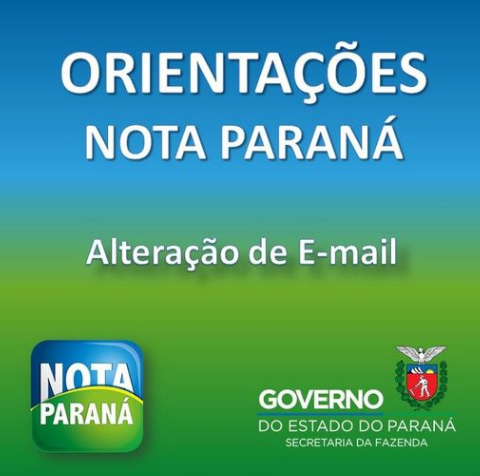 Como Alterar E-Mail Nota Paraná