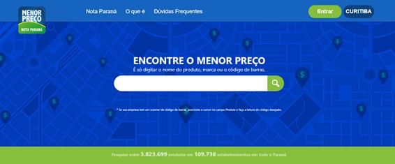 Como Consultar No Site Do Nota Paraná O Menor Preço Para Fazer Compras