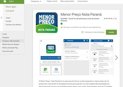 Como Verificar O Menor Preço Do Nota Paraná Para Consumo Pelo APP