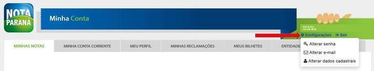 Como Mudar E-Mail Do Nota Paraná Pelo Site